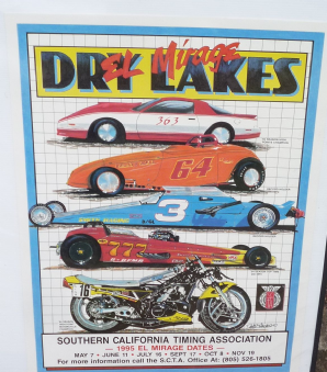 EL MIRAGE DRY LAKES 95 Land Speed Racing. Original SCTA season poster
